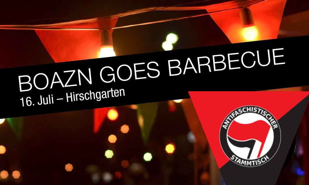 Antifa Boazn goes Barbecue im Hirschgarten
