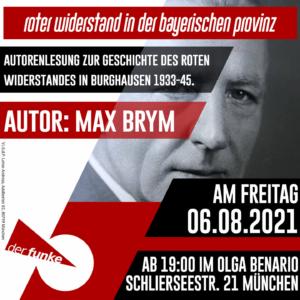 """Autorenlesung """" Roter Widerstand in der bayerischen Provinz"""""""